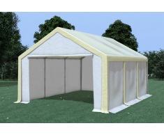 Stabilezelte Partyzelt Pavillon 4x6m Modular Pro PVC wasserdicht beige / weiß