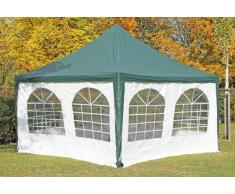 Stabilezelte Pavillon 4x4m grün / weiß PVC Pagodenzelt Arabica Profi wasserdicht