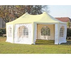 Stabilezelte Pavillon 5x6,8m beige / weiß PVC Pagodenzelt Arabica Profi wasserdicht