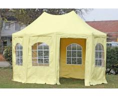 Stabilezelte Pavillon 3x4,1m beige PVC Pagodenzelt Arabica Profi wasserdicht