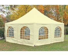Stabilezelte Pavillon 5x5m beige PVC Pagodenzelt Arabica Profi wasserdicht