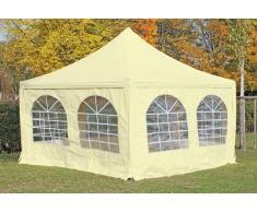 Stabilezelte Pavillon 4x4m beige PVC Pagodenzelt Arabica Profi wasserdicht