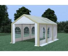 Stabilezelte Partyzelt Pavillon 3x6m Modular Pro PVC wasserdicht braun / weiß