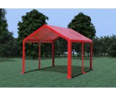 Stabilezelte Partyzelt Pavillon 3x4m Modular Pro PVC wasserdicht rot