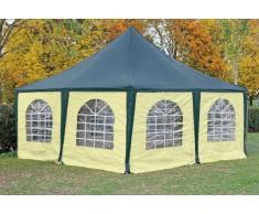 Stabilezelte Pavillon 5x5m grün / beige PVC Pagodenzelt Arabica Profi wasserdicht