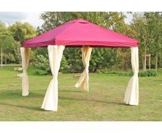 Stabilezelte Pavillon 3x4m bordeaux Polyester Gartenpavillon Sahara wasserdicht