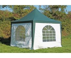 Stabilezelte Pavillon 3x3m grün / weiß PVC Pagodenzelt Arabica Profi wasserdicht