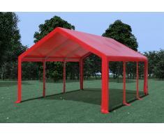Stabilezelte Partyzelt Pavillon 4x6m Modular Pro PVC wasserdicht rot
