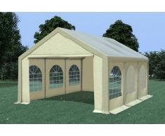 Stabilezelte Partyzelt Pavillon 4x6m Modular Pro PVC wasserdicht braun / beige