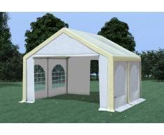 Stabilezelte Partyzelt Pavillon 4x4m Modular Pro PVC wasserdicht beige / weiß
