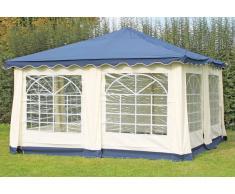 Stabilezelte Pavillon 4x4m blau Polyester / PVC Gartenpavillon DeLuxe wasserdicht