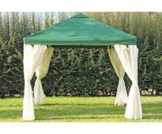 Stabilezelte Pavillon 3x3m grün Polyester Gartenpavillon Sahara wasserdicht