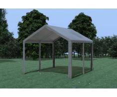 Stabilezelte Partyzelt Pavillon 3x4m Modular Pro PE wasserdicht grau