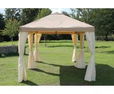 Stabilezelte Pavillon 3x6m braun Polyester Gartenpavillon Sahara wasserdicht