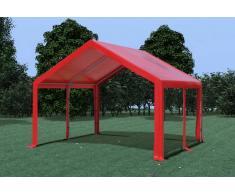 Stabilezelte Partyzelt Pavillon 4x4m Modular Pro PVC wasserdicht rot
