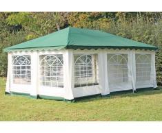 Stabilezelte Pavillon 4x6m grün Polyester / PVC Gartenpavillon DeLuxe wasserdicht
