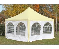 Stabilezelte Pavillon 4x4m beige / weiß PVC Pagodenzelt Arabica Profi wasserdicht