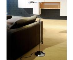 Milan 3 LED Stehleuchte mit verstellbarem Arm 6343, chrom