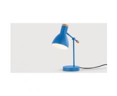 Cohen Nachttischlampe, Memphisblau und Eiche