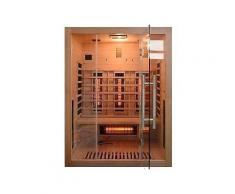 home deluxe infrarotkabine »sahara l« b/t/h: 150/120/190 cm mit dachkranz für bis zu 3 personen