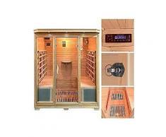 home deluxe infrarotkabine »bali xl« 175/120/190 cm 40 mm für bis zu 4 personen