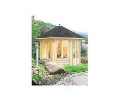 wolff holzpavillon »capri 3.5« bxt: 430x430 cm mit schwarzen schindeln