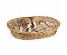 Aumüller Hundekorb aus gesottener Weide 80x62x21cm