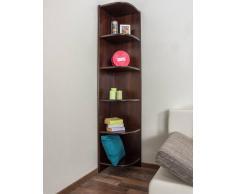 Steiner Shopping Möbel Regal / Eckregal Kiefer massiv Vollholz Nussfarben lackiert 002 - Abmessung 200