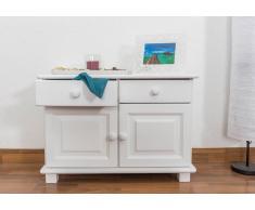 Steiner Shopping Möbel Kommode / Nachtkommode Kiefer massiv Vollholz weiß lackiert 025 - Abmessung 55