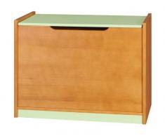 Steiner Shopping Moebel (DO) Truhe Milo 08, Farbe: Erle / Mint, massiv - Abmessungen: 60 x 80 x 50 cm (H x B