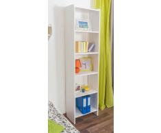Steiner Shopping Möbel Regal Kiefer massiv Vollholz weiß lackiert 001 - Abmessung 200 x 50 x 30 cm (H