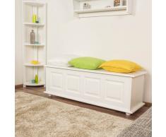 Steiner Shopping Möbel Truhe Kiefer massiv Vollholz weiß lackiert 179 ? Abmessung 154 x 50 x 46 cm
