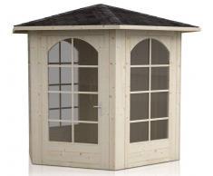 Steiner Shopping Gartenhäuser Pavillon Sonnenschein inkl. Fußboden - Lieferumfang: 4 x Glas und Fußboden
