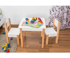 Steiner Shopping (MO) Kindertisch Laurenz Buche Vollholz massiv natur/weiß - Abmessungen: 47 x 50 x 5