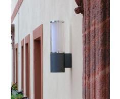 Albert Aluminiumguss Wandleuchte B: 10 H: 35,5 T: 14,5 cm, Lampen Ø 11 cm, schwarz 660311, EEK: A++