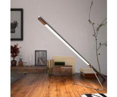 belux tubo LED Tischleuchte mit Dimmer B: 90 H: 18,5 T: 25 cm, chrom TUB40-11-8027-TD, EEK: A+