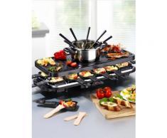 Raclette- und Fondue-Set mit heißem Stein