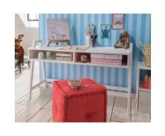 INFANSKIDS Kinderzimmer Schreibtisch - höhenverstellbar gelaugt / B 126 x H 60/67,5/75 x T 50 cm