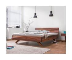 Dormiente Massivholz-Bett Gabo Kirsche geölt 200x200 cm