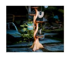 die Faktorei Unikat Deko-Kaktus mit Ablagen aus Suar-Holz