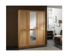 Massivholz Kleiderschrank Standard Front 2 3-türig / Buche natur / Holz