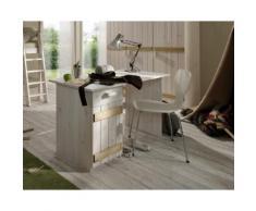 INFANSKIDS Kinderzimmer Schreibtisch weiss/flieder / B 124 x H 75 x T 60 cm