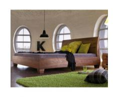 Dormiente Massivholz-Bett Morena Komforthöhe 38 cm / Nussbaum 180x200 cm