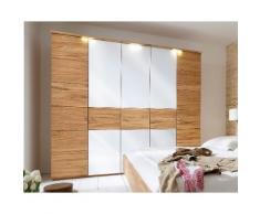 Massivholz Kleiderschrank Choice Mercur 3-türig Buche natur Glas weiß