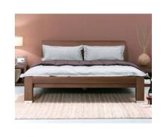 Dormiente Massivholz-Bett Kara Nussbaum geölt 140x200 cm