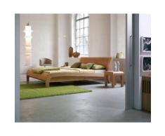 Dormiente Massivholz-Bett Beluga Kernbuche 140x200 cm