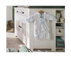 INFANSKIDS Lucky Babyzimmer Anstellregal B22 x H90 x T22 cm, weiss/grau