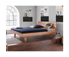 Dormiente Massivholz-Bett Plain Nussbaum 100x200 cm