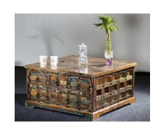 The Wood Times Delhi Couchtisch-Truhe lll B 90 x H 47 x T 90 cm