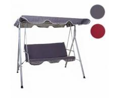 Hollywoodschaukel HWC-D61, Gartenschaukel Hängeschaukel Bank, 3-Sitzer UV 50+ verstellbares Dach 197x185cm ~ Variantenangebot